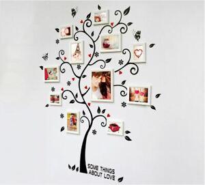 Black Family Photo Frame Tree Butterflie Wall Sticker Decal Vinyl Art Home Decor