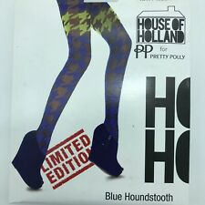 Pretty Polly House of Holland Multicolor Houndstooth OS New MSRP $30