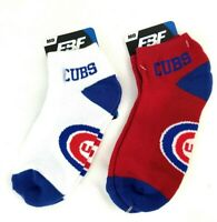 """For Bare Feet """"Money"""" No-Show Ankle 2 Pair Pack Socks - Chicago Cubs"""