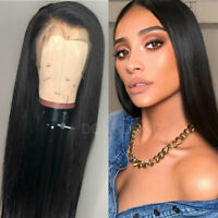 Smooth Silky Straight Indian Human Hair Wigs Lace Front Full Wig with Baby Hair