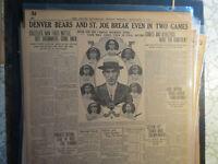 Baseball Team Photo Newspaper 1913 MACH & MACKMEN PHIL ATHLETICSS + DENVER BEARS