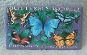 Butterfly World Coconut Creek Florida Magnet Souvenir Travel Refrigerator MB53
