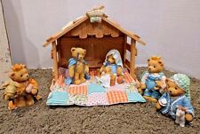 Cherished Teddies Nativity Figurine Set Enesco Jesus Mary 3 Kings Christmas