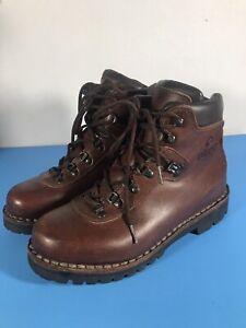 "Alico Summit Leather Hiking Boots Brown Vibram Men's Sz 8B ""Excellent"""