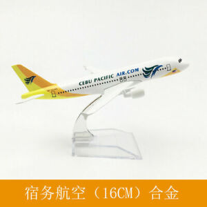 NEW 16CM Aircraft Metal Diecast West Cebu A320 Solid Passenger Airplane Plane