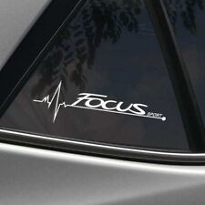 FORD FOCUS MK1 MK2 MK3 WINDOW GLASS SPORT DECAL IN WHITE - ST RS UNIQUE COOL
