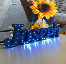 present Bespoke luxury gift Light up letters bespoke light up name Birthday gift