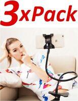 3x Flexible Clip Mobile Cell Phone Holder Lazy Bed Desktop Bracket Mount Stand