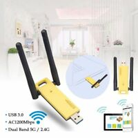 AC1200Mbps Dual-Band Wireless Network Card USB 3.0 Ultra-Fast Wifi Repeater AP
