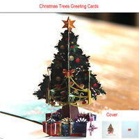 3D Pop Up Card Christmas Trees Holiday Merry Christmas Greeting Cards