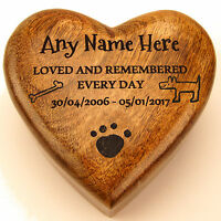 Heart Shaped Wood Pet Box Pet Urn Dog Urn Cat Urn Cremation Ashes Box