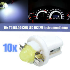 10x T5 LED COB Bulb Dashboard Gauge Neo Wedge Instrument Panel Lamp Light White
