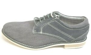 Steve Madden Size 8.5 Leather Canvas Oxfords New Mens Shoes
