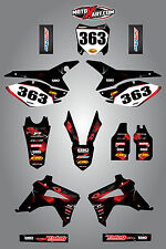 Honda CRF 450 - 2013 - 2015 Full Custom Graphic Kit - BARBED Style sticker kit