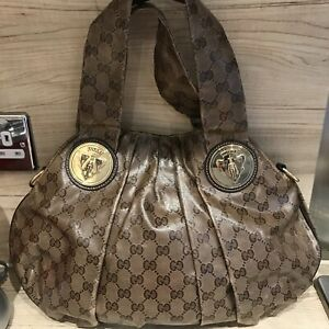 Gucci  Double GG logo Handbag With Gold Colour Hardwear