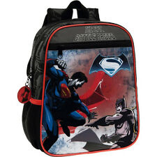 Zaino Scuola Asilo Zainetto 23 x 28 x 10 cm Nero Borsa Pvc Batman vs Superman