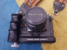 Chinon CE-4 35 mm SLR Caméra Corps Seulement, tout fonctionne ok, Pentax K lens Mount aucun objectif