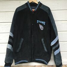 TENNESSEE TITANS SUEDE LEATHER JACKET COAT SEWN GRAPHICS NFL FOOTBALL LARGE G 3
