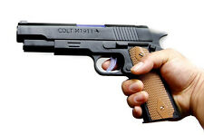 Colt M1911 Automatic Pistol Gun With flashing Lights,Sound and Projection Toy