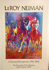 LEROY NEIMAN - Kentucky Derby ORIGINAL 1995 POSTER Plate Signed Art Print
