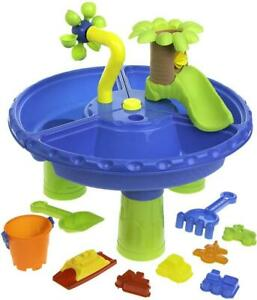 Sand And Water 2 in 1 Table With Waterfall 21 Piece Sandpit Garden Play Set Kids