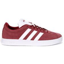 Adidas Men's VL Court 2.0 Collegiate Burgundy/Cloud White Sneakers DA9855 NEW