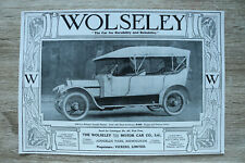 WL1e) Werbung The Wolseley Tool & Motor Car Co 1913 Car Auto Birmingham England