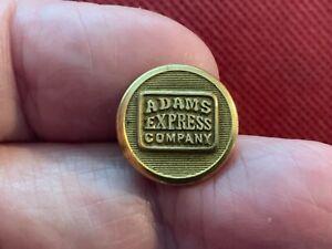 ADAMS EXPRESS (RAILROAD) BAGGAGE COMPANY 15.2mm BRASS CUFF BUTTON SCOVILL 1898