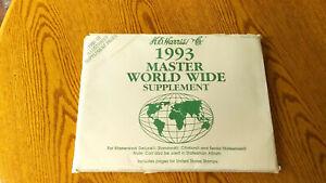 H.E. HARRIS 1993 Master Worldwide supplement BRAND NEW-  MB/D