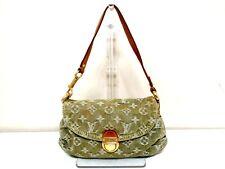 Authentic LOUIS VUITTON Monogram Denim Mini Pleaty M95217 Vert Handbag CA0016