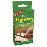 Coghlan's Fire Lighters 20-Piece Handy Odorless Lighters Survival Firestarters
