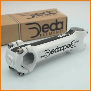 "NOS DEDA ZERO 1 130mm STEM THREADLESS AHEAD 1""1/8 31.8mm ROAD BIKE BICYCLE WHITE"