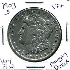 1903 S VF $1 Morgan Silver Dollar Rare Scarce America Very Fine US U.S Coin#4428