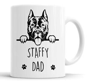 Staffy Dad Mug Pet Present Staffordshire Bull Terrier Dog Dad Friend Funny Gift