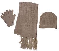 Winter Warm Fleece Cap With Scarf Gloves Hat Accessories Set