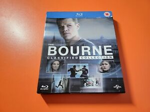 The Bourne Classified Collection (4 x Movies) Blu Ray - Region 2 - VGC -Fast P+P