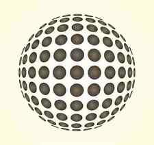 Mr. Stencil Wandschablone Wandschablonen Schablone Optische Täuschung Kugel 1