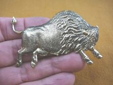 b-buff-50) Brass wild Buffalo bison love buffaloes roam ranch pin pendant brooch