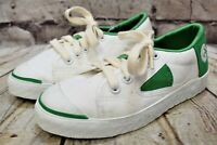 Unisex Dunlop Green Flash White Lace Fastening Trainers UK 13 EUR 32