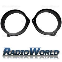 """6.5"""" 165mm MDF Front Speaker Adaptors Rings / Spacers FOR Nissan Navara 2 97-05"""