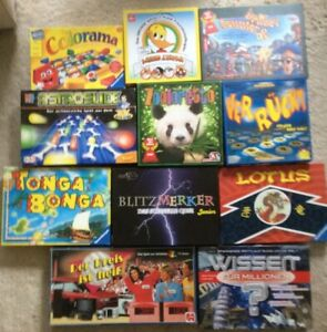 Konvolut 11 Spiele, Kinderspiele, Gesellschaftsspiele, Brettspiele