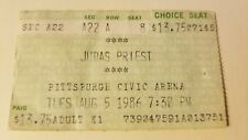 VINTAGE RARE JUDAS PRIEST ticket stub @ CIVIC ARENA Pittsburgh PA 1986