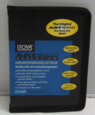 "Itoya Art Profolio 4x6"" 24 Pages Holds 48 Pieces - Black Acid-Free - NEW S13"