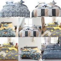 Duvet Cover Floral Print Quilt Comforter Bedding Set Pillowcase Twin Queen King