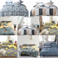 Floral Print Reversible Bedding Set Duvet Cover Quilt Pillowcase Twin Queen King