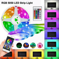 LED STRIP LIGHTS 5050 RGB TV Backlight COLOUR CHANGING  Bluetooth Remote Control