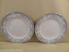 "Fine China of Japan Sakurai ""Garden"" 2 Dinner Plates"