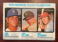 1973 Topps #615 Rookie Third Basemen/Ron Cey/Hilton RC/MIKE SCHMIDT RC
