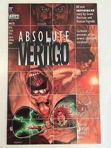 Absolute Vertigo #1 FIRST appearance PREACHER pre-dates Preacher #1
