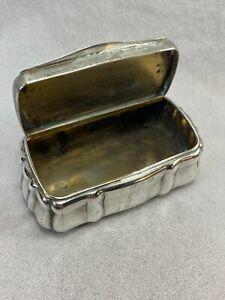 c1877 Austrian 800 Guilloche Silver Goldwashed Snuff Tobacco Box Josef Mansfeld